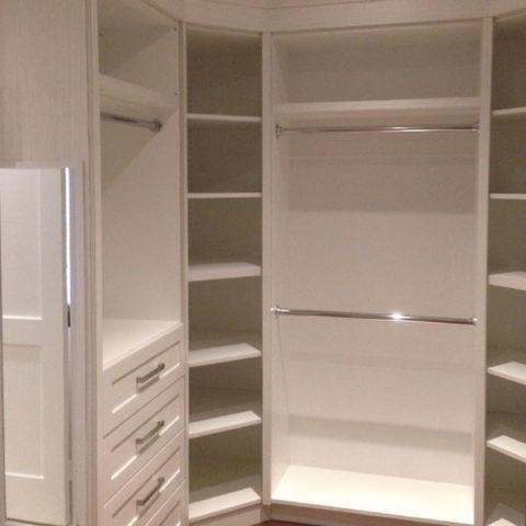 custom white closet organizer