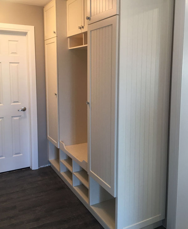 mud room built in organizer