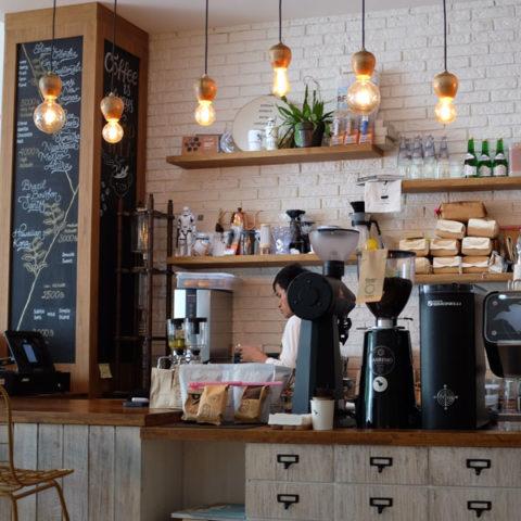 shelves for coffee shop