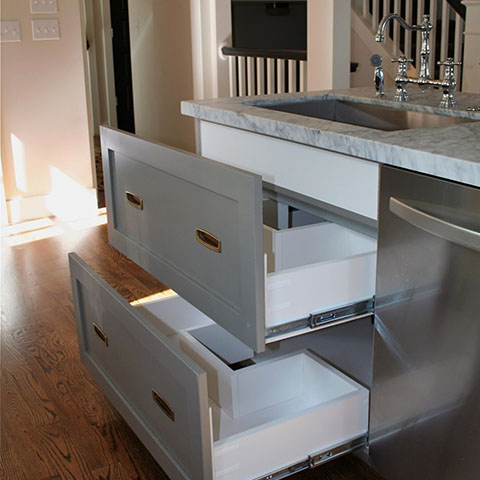 grey kitchen drawers